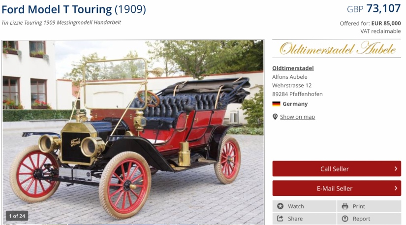 A rate model Ford T special tourer.