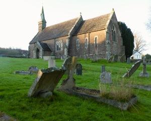 Grave stone for George Webb, Ganarew churchyard.